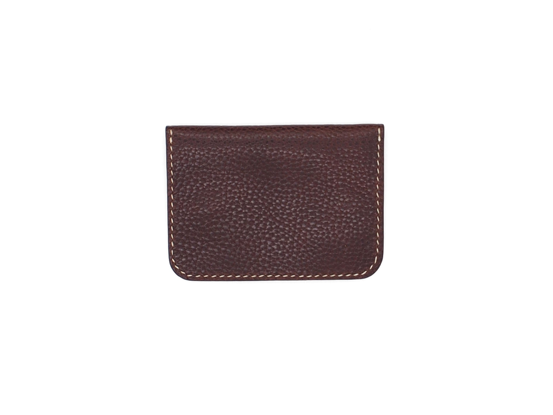 Utility Pocket - Snap Pouch Wallet In Pebbled Burgundy
