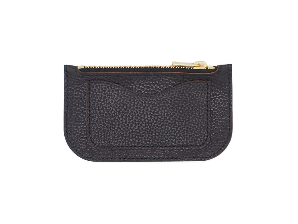 Alice - Zip Wallet In Pebbled Black