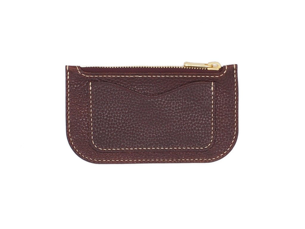 Alice - Zip Wallet In Pebbled Burgundy