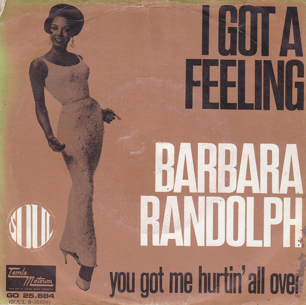 I Got A Feeling by Barbara Randolph (Eb)