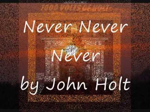 Never Never Never by John Holt (Db)