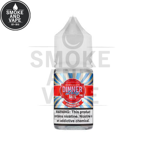 Strawberry Ice by Dinner Lady Premium E-Liquids Salt 30ml