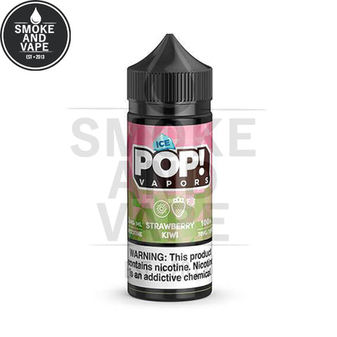 Strawberry Kiwi Ice by Pop! Vapors 100ml