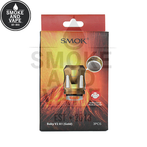 TFV8 Baby V2 Gold Replacement Coils by SmokTech