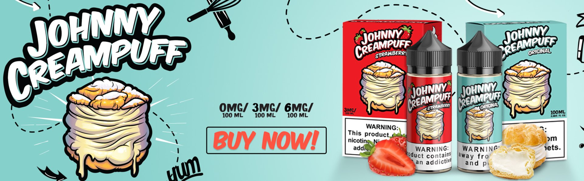 Johnny Creampuff E-Liquid - Smoke and Vape