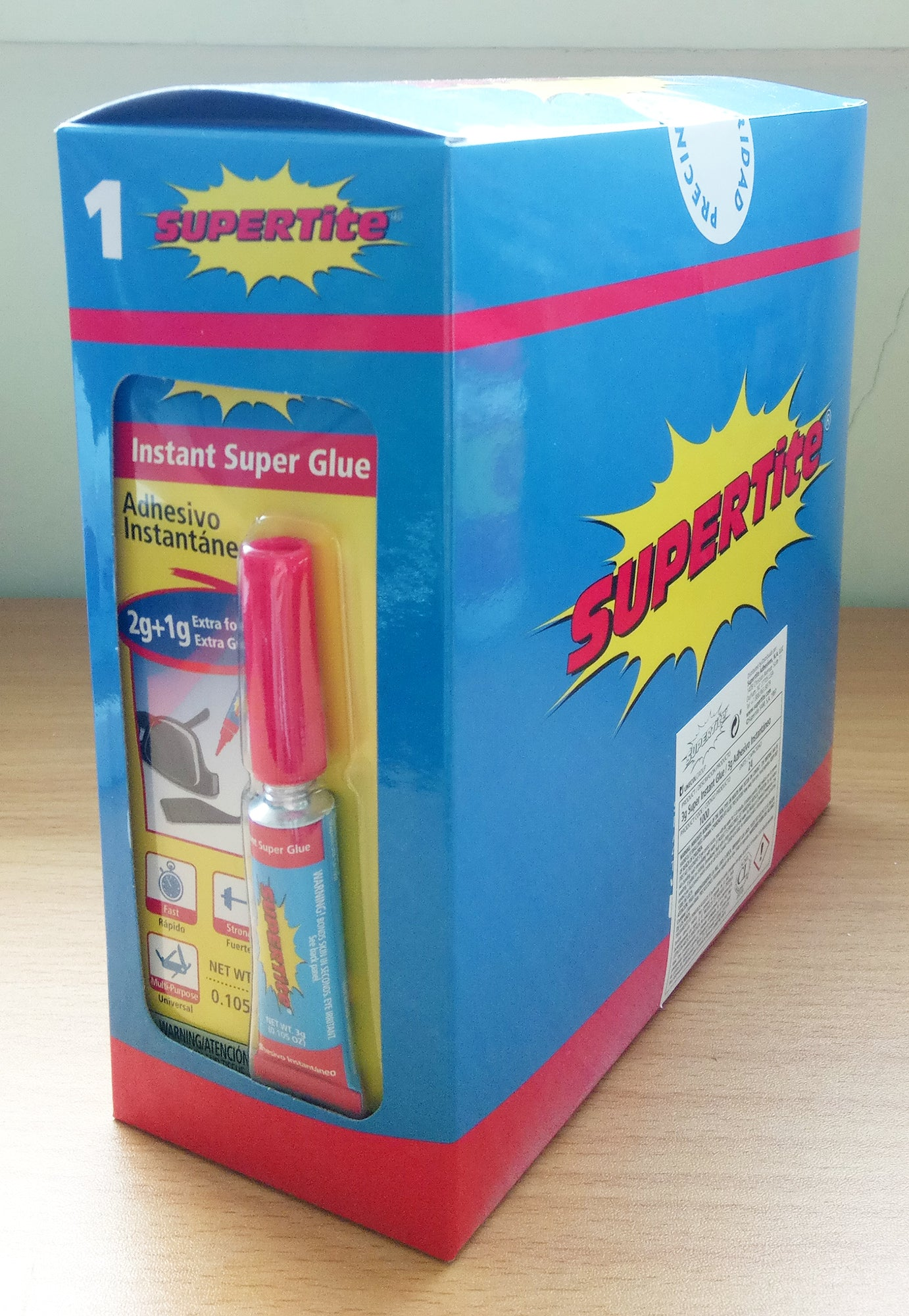 Ref: 1000 INSTANT SUPER GLUE 3g/0.105oz (1g more than competitors)