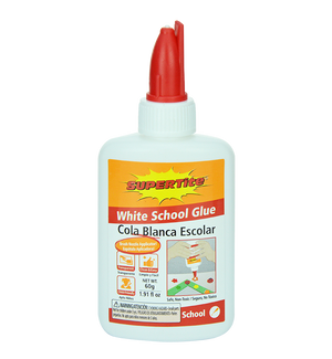 Ref: 1023 WHITE SCHOOL GLUE 60g (with Brush Nozzle Applicator!)