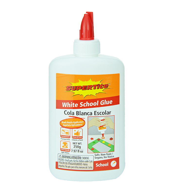 Ref-1026 Supertite White School Glue- 250g (7.97oz) comb cap bottle