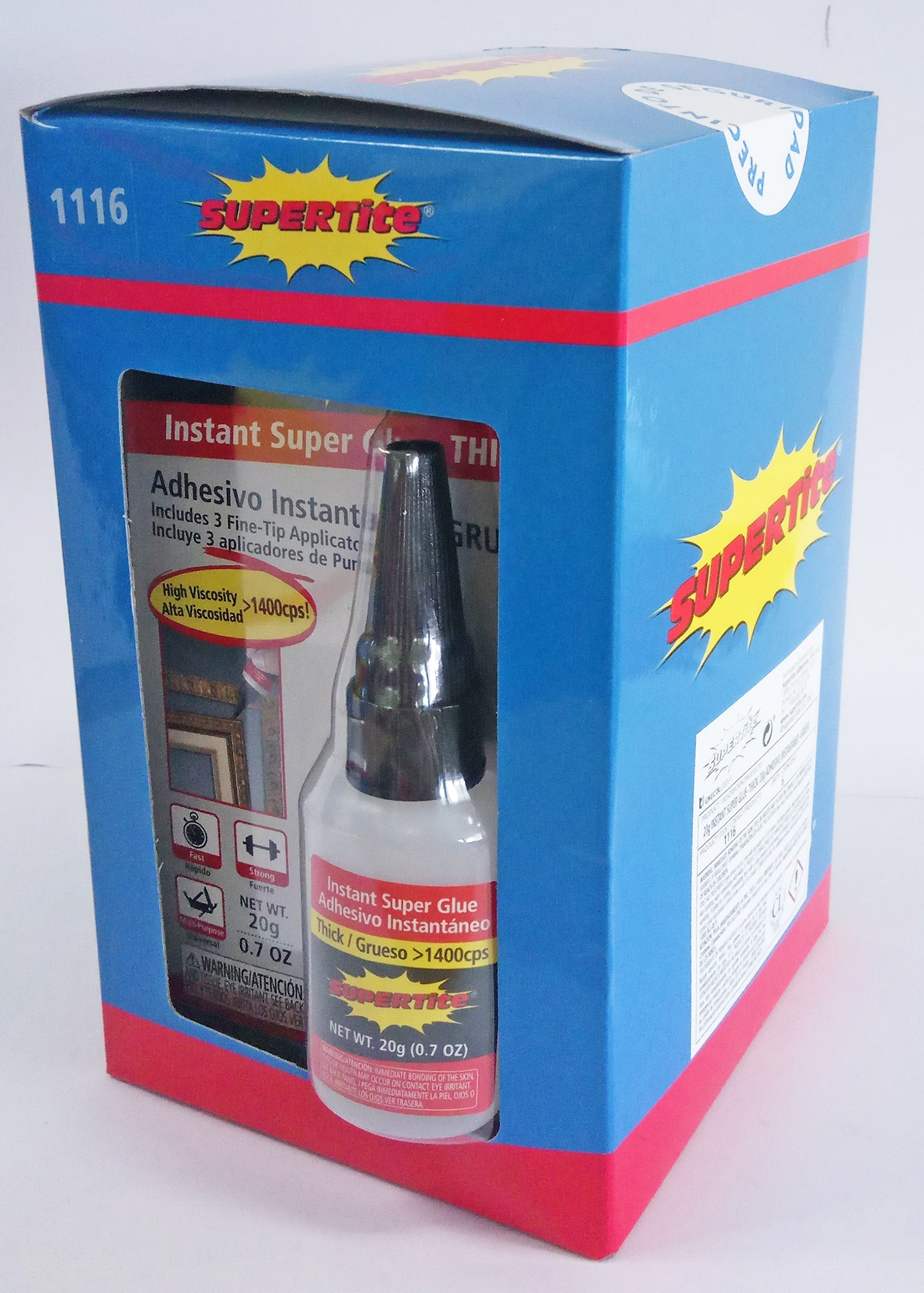 Ref: 1116 INSTANT SUPER GLUE- THICK 20g/0.7oz (+3 Fine-Tip Applicators)