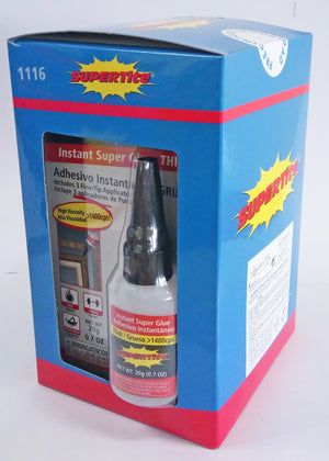 Ref-1116 Supertite THICK-Instant Super Glue +3 Fine Tip Applicators- 20g (0.7oz) Bottle