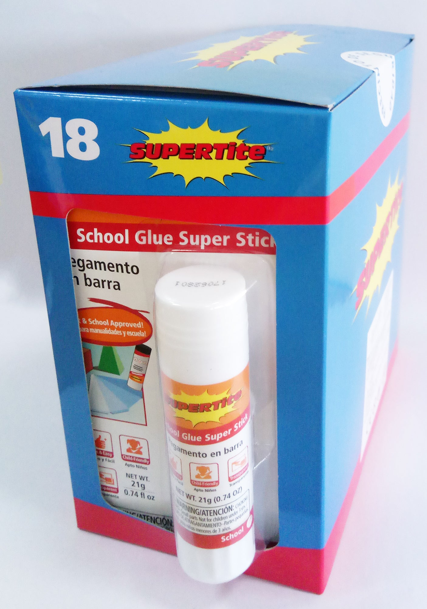 Ref-1118 Supertite SCHOOL GLUE SUPER STICK (Craft & School Approved!)- 21g(.74oz)