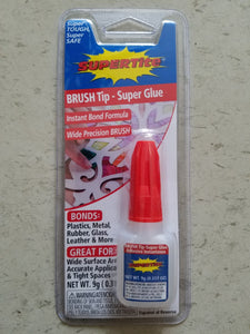 Ref-1016 Supertite BRUSH-Tip Instant Super Glue - 9g (.317oz) w/ Brush Bottle