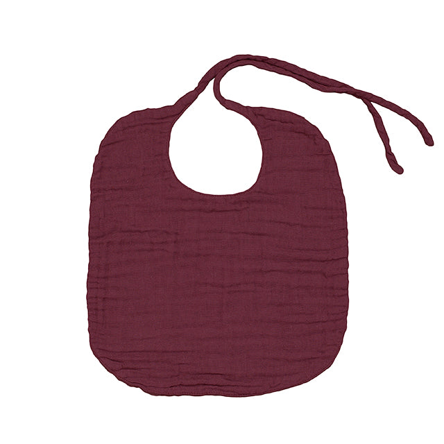 Baby Bib - Red Macaron - Discontinued Colour