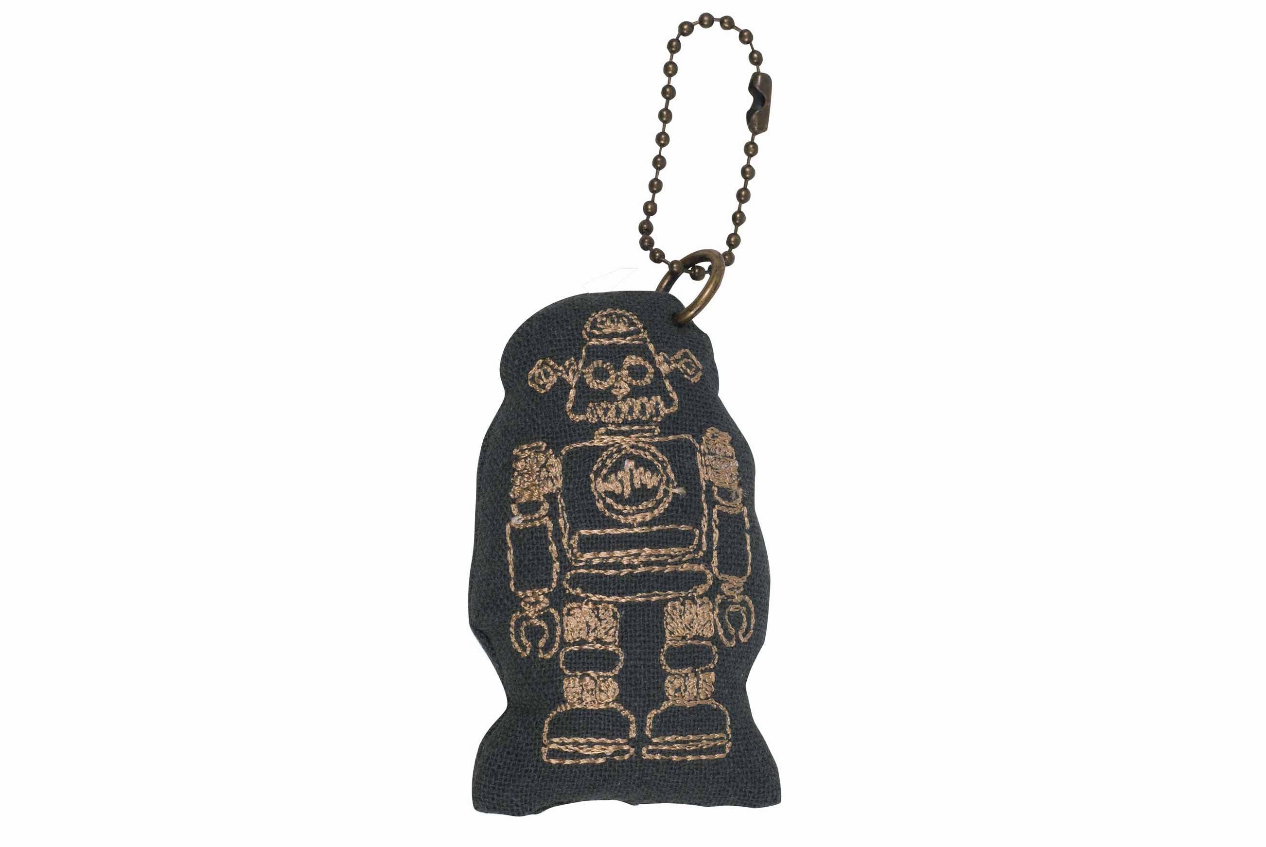 Robot Keychain - Dark Grey