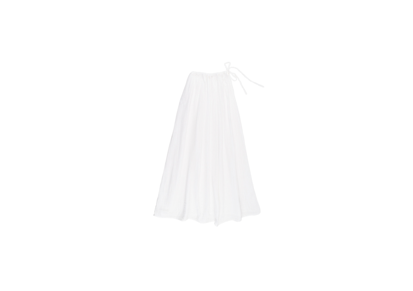 Ava Mum Long Skirt - White