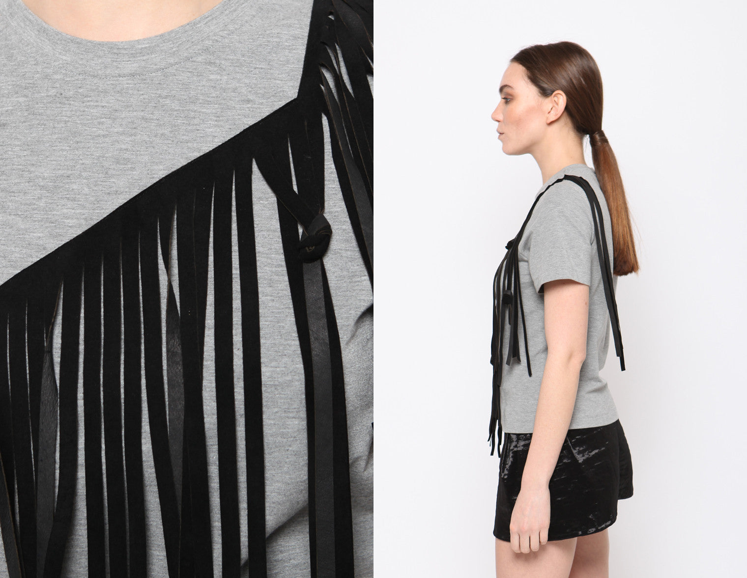 REIN Leather Fringe Tee