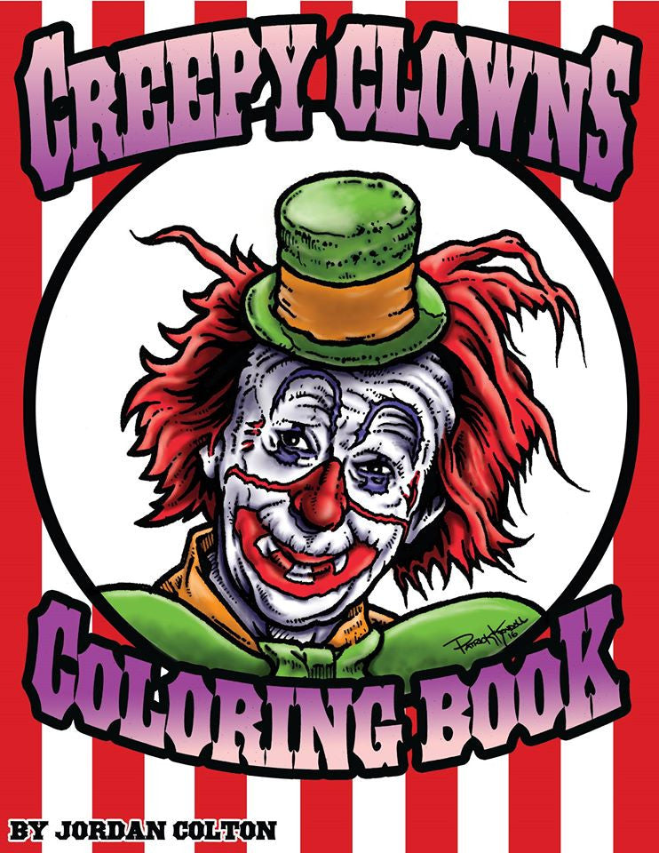 Creepy Clowns Horror Coloring Book