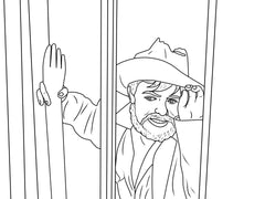 Torgo as a Coloring Book Image