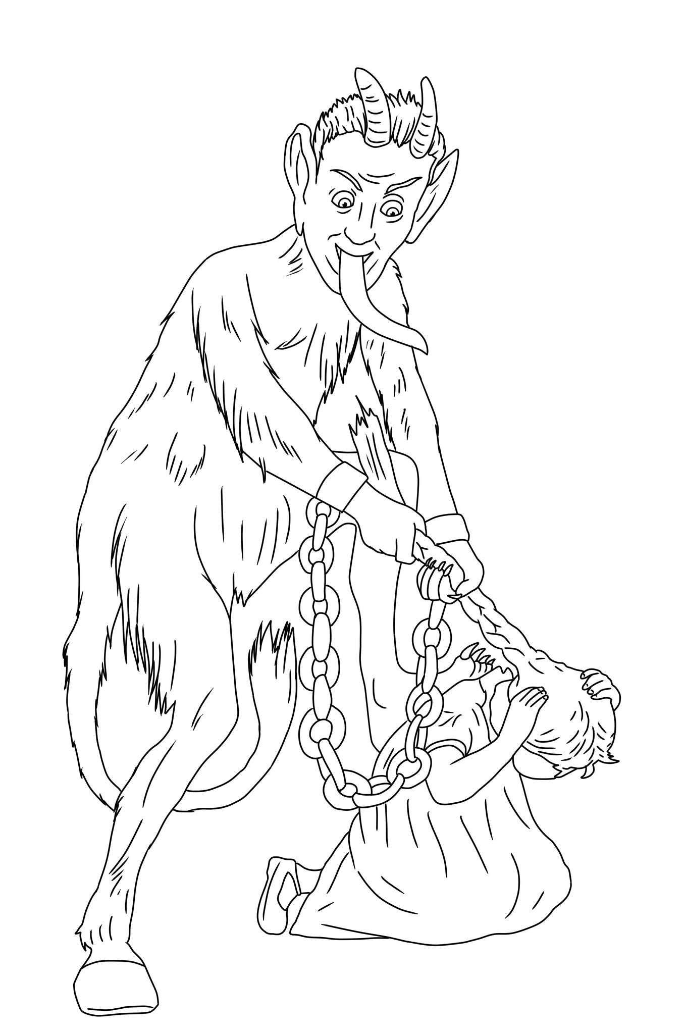 Krampus Coloring Book Vol 2 | Horrid Coloring Books