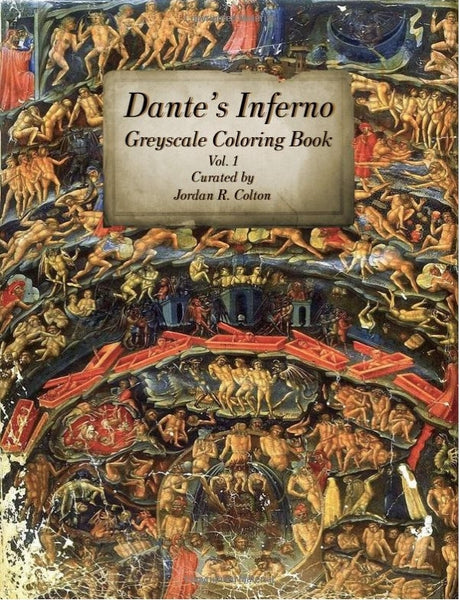 Dante's Inferno Greyscale Coloring Book Volume 1