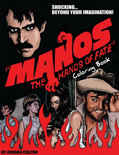 Manos The Hands of Fate Coloring Book Cover