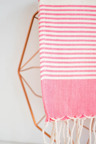 solid hand towel - rose