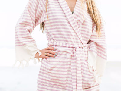 adult robe - pink