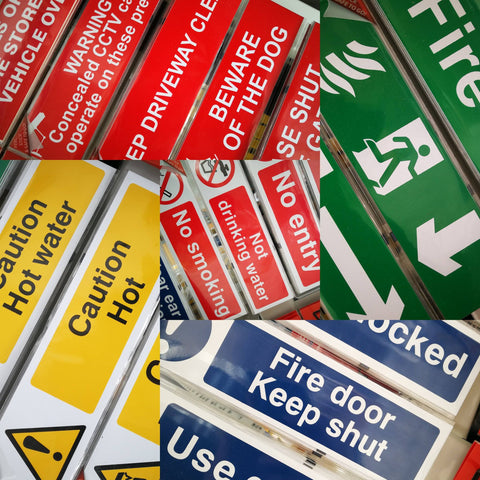 Sash Hardware SELF ADHESIVE SIGNS sold at Sash Hardware