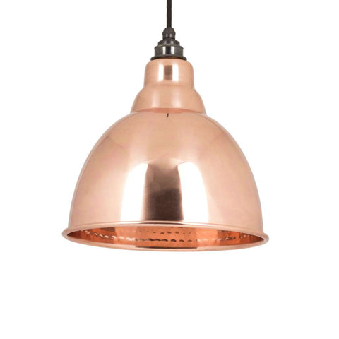 From the Anvil THE BRINDLEY PENDANT IN HAMMERED COPPER sold at Sash Hardware