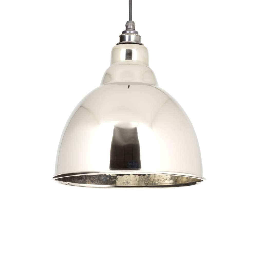 From the Anvil THE BRINDLEY PENDANT IN HAMMERED NICKEL sold at Sash Hardware