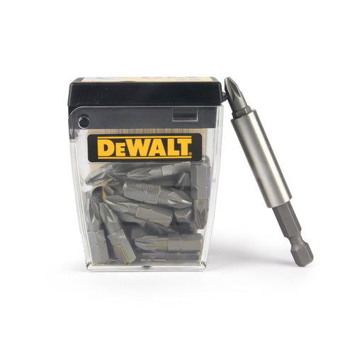 DeWALT 25 DeWALT PZ2 bits & FREE holder sold at Sash Hardware