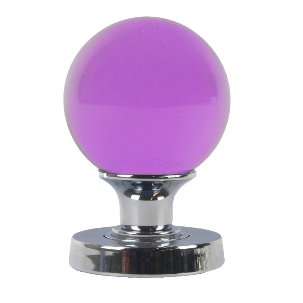 Frelan Coloured Glass Ball Mortice Knob sold at Sash Hardware