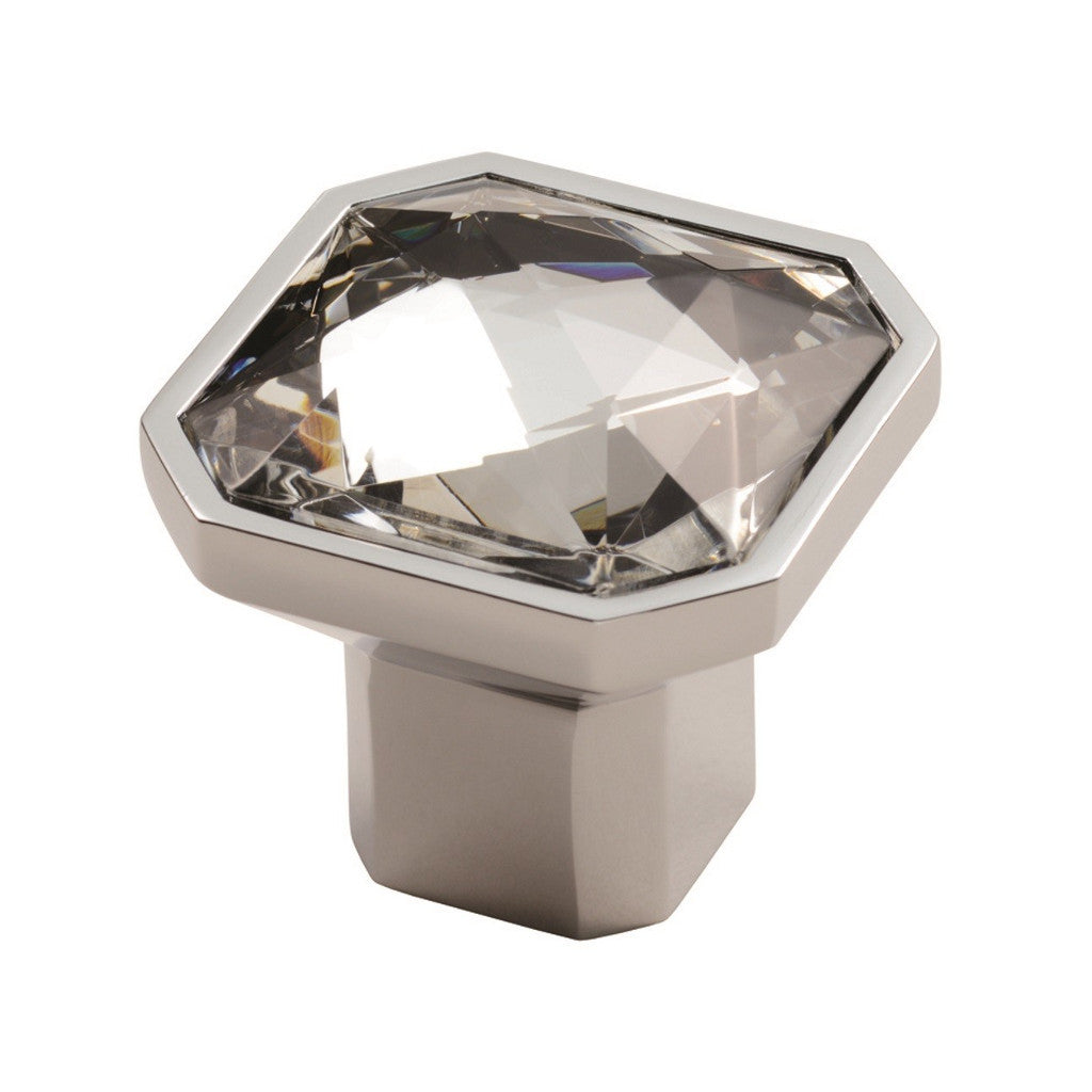 Square Crystal Knob - Sash Hardware