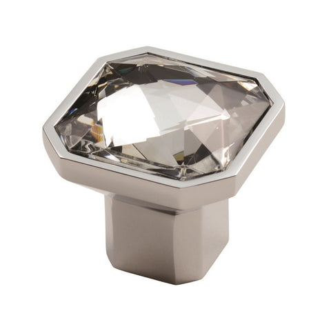 Carlisle Brass Square Crystal Knob sold at Sash Hardware
