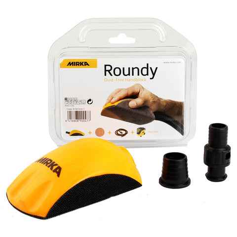 Roundy Dust-Free Hand Sanding Block - Best Abrasives - Mirka
