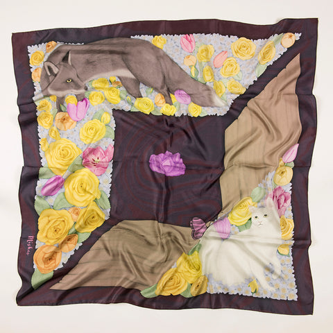 Night in the Jungle Silk Scarf