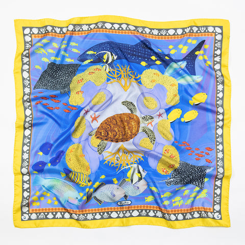 Twin Panthers Silk Scarf