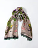 Toucanets and FIgs Silk Chiffon Scarf