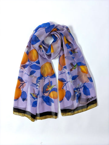The Fox and Cat Silk Scarf