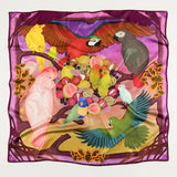 Sunset Feast Silk Scarf