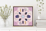 Crystals Floral Limited Edition Signed Art Print