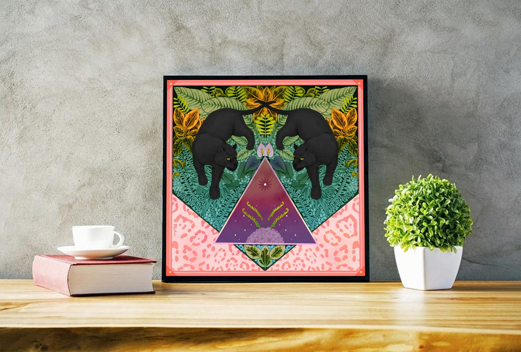 Twin Panthers Limited Edition Signed Art Print