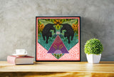 Twin Panthers Limited Edition Art Print