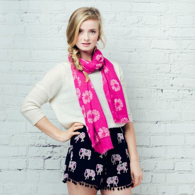 Annabelle Pink Scarf