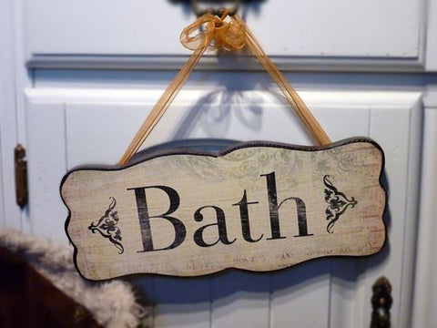 Bath Wooden Sign - Dotties Gifts