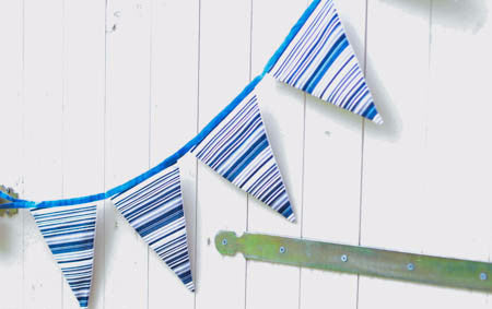 Blue Stripe Bunting - Dotties Gifts