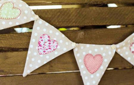 Pretty Pastel Bunting Dotty - Dotties Gifts