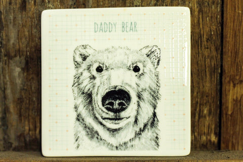 Animal Coaster Daddy Bear - Dotties Gifts