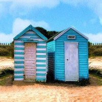Beach Hut Canvas - Dotties Gifts