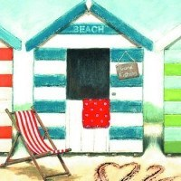 Beach Hut Canvas Small - Dotties Gifts